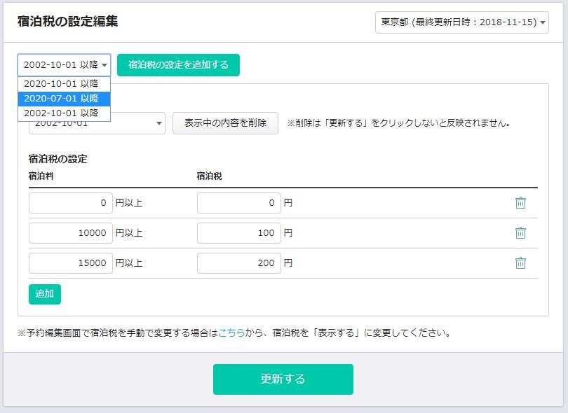 宿泊税設定東京都