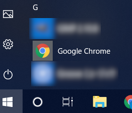 windows10 グーグルクローム起動方法